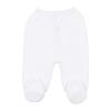 Frente de calças de Malha 100% algodão de cor Branca.