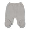 Frente de calças de Malha 100% algodão de cor Cinzenta.
