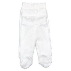 Calças interiores para bebé e recém-nascido de cor branca e com pé.