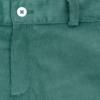 Pormenor de Calções de bébe em bombazine verde.