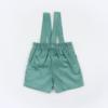 Vista Trás Calções bebé com alças amovíveis. Tecido em Bombazine Verde.