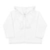 Casaco com carapuço branco para bebé, em malha 100% algodão.