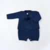 Casaco de malha para bebé com casaco e calças em azul Inglês.
