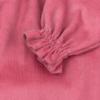 Pormenor Vestido de bebé em bombazine cor de rosa.
