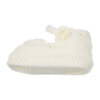Sapatinhos de Lã para recém nascido em cor pérola.