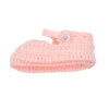 Sapatinhos de Lã para recém nascido em cor rosa claro.
