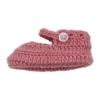 Sapatinhos de Lã para recém nascido em cor rosa velho.