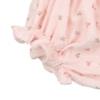 Elástico nas pernas de tapa Fraldas de Bebé rosa com padrão estampado de flores.