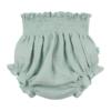 Tapa fraldas de bebé em algodão orgânico de cor verde.